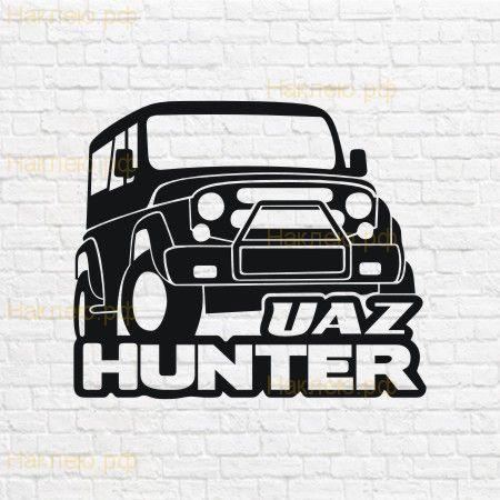 Uaz hunter макет в векторе