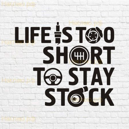 Life is too short to stay stock в векторе